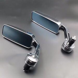 Chrome-7-8-034-HANDLE-BAR-END-MIRRORS-For-Honda-Kawasaki-Suzuki-Yamaha-Buell