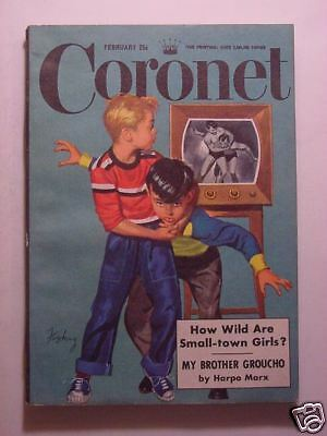 CORONET February 1951 GROUCHO HARPO MARX 50s TV SHOWS Great COMPOSERS +++