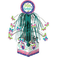 Birthday Party Supplies Owl Pal & Butterfly Happy Cascade Centerpiece