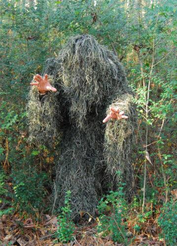 Woodland Fermeture éclair Veste SPECIAL ACHAT Adulte Combinaison Ghillie 4 pc