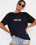 Damen-Oversized-F-CK-YOU-Kurzarm-Bequem-Print-T-Shirt-Mode-Lose-Fit Indexbild 2
