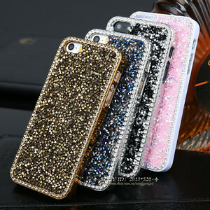 Sparkle-Crystal-Bling-Glitter-Rugged-Back-Hard-Case-Cover-For-iPhone-5s-6-6-Plus