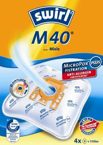 4 Staubsaugerbeutel Swirl M 40 M40 geeignet für Miele Complete C3 Comfort
