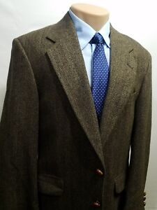CORPORATE-CASUALS-CROFT-amp-BARROW-MEN-039-S-SPORTS-COAT-HERRINGBONE-MADE-IN-USA-40R