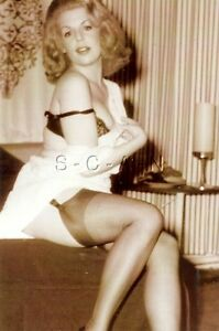 1940s-60s Sepia (4 x 6) Semi Nude Repro Pinup RP- Brunette in Open Shirt- Trophy | eBay