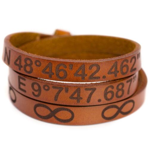 Wickelarmband Lederarmband mit Gravur Leder Armband