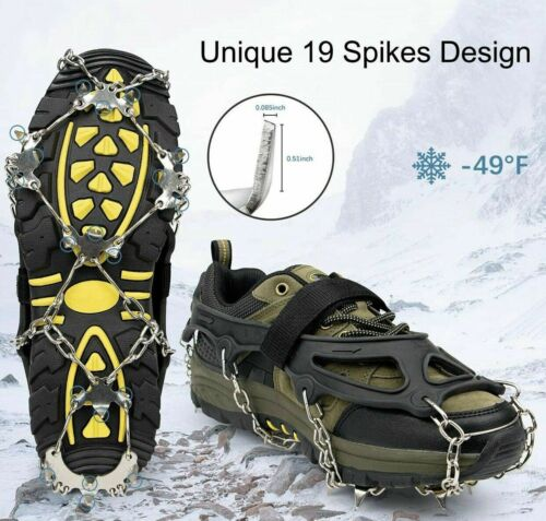 Boots Male Size Large Ice Snow Winter Spikes Crampons Ice Cleats For Shoes