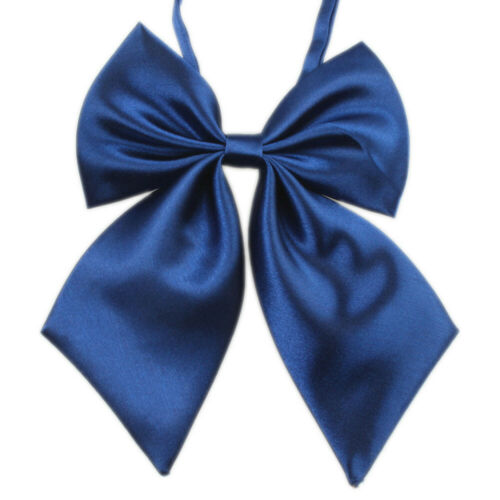 Women Studern Bow Tie Fashion Ladies Girl Satin Novelty BIG Bow Tie Wedding Gift