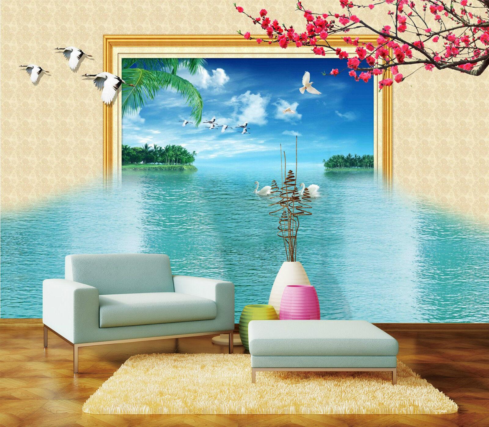 3D Seen Vogel 930 Fototapeten Wandbild Fototapete Bild Tapete Familie Kinder DE