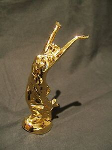 GOLD PLATED SPIRIT OF FREEDOM GODDESS CAR BONNET MASCOT