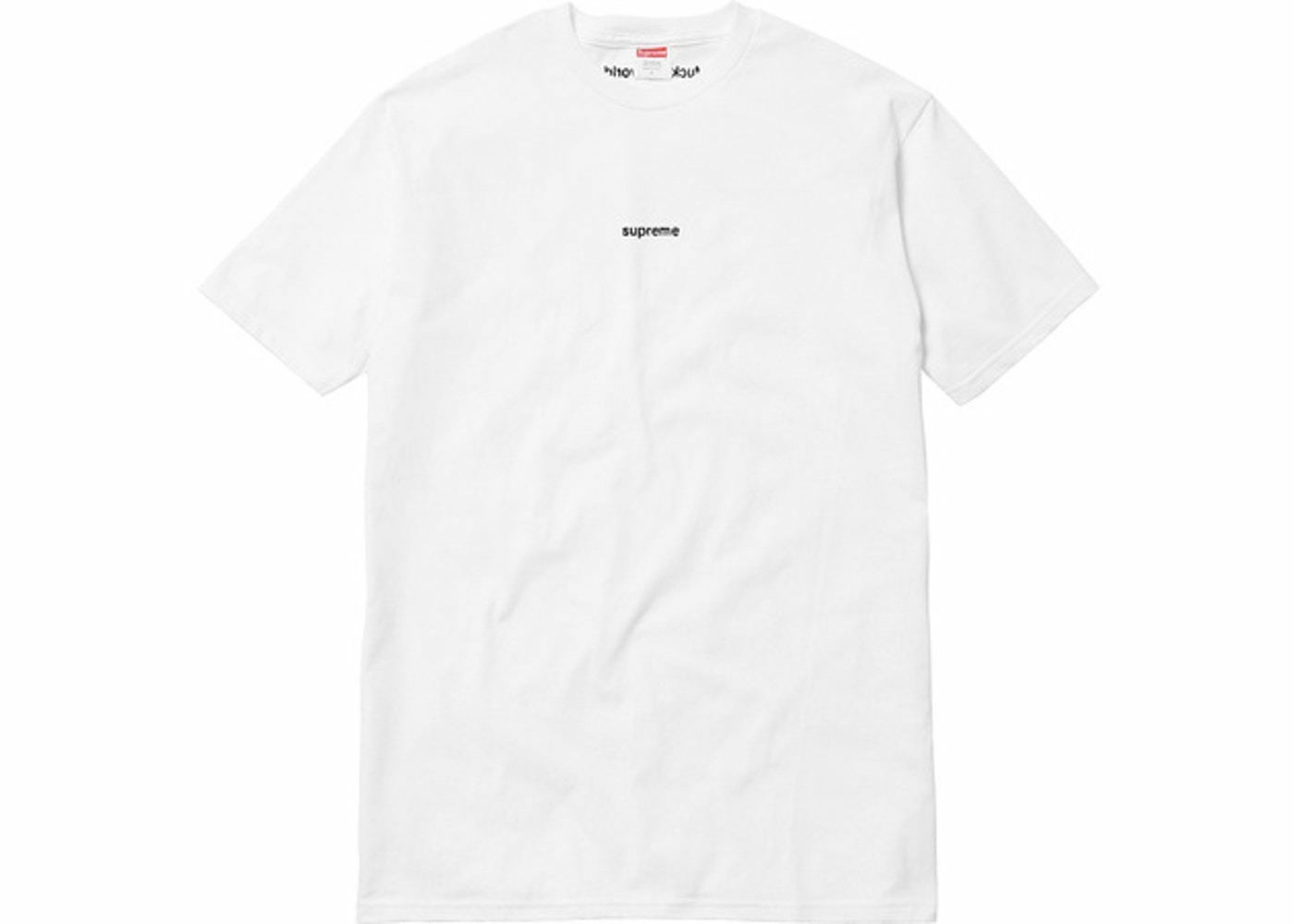 New Supreme FTW Tee White F The World SS18 Large L Authentic FTW