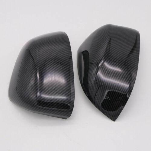 Carbon Fiber Look Rearview Door Mirror Cover Trim 2pcs for BMW X3 G01 2018 2019