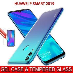 Coque-pour-Huawei-P-Smart-2019-antichoc-Clair-Gel-Housse-amp-Protection-D-039-ecran-Verre