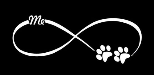 Infinity paws me love cute funny sticker vinyl decal car window bumper laptop