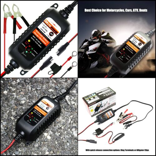 NEW ATV Motorcycle Battery Charger RV Truck Tender Car Boat And More 12V Trickle