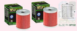 2x HF132 Oil Filter for 250 & 300 Arctic Cat models  1999 to 2005