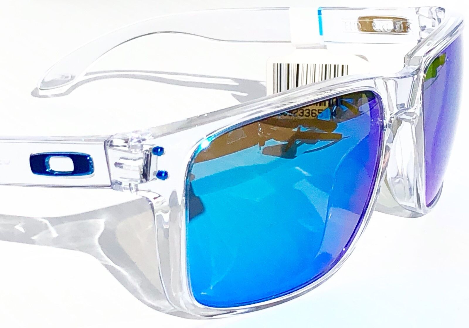 748162131a Oakley Holbrook Polished Clear Sapphire Iridium Prizm Polarized Lens XL  Oo9417 for sale online