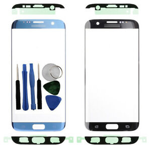 For-Samsung-Galaxy-S7-Edge-G935F-Front-Outer-Glass-Screen-Blue-Adhesive-Tools