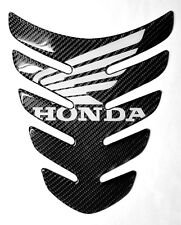 HONDA CBR 1000 600RR CB400 HRC logo Real Carbon fiber tank pad Protector Sticker