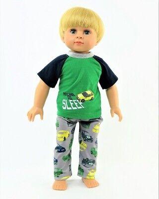 """18 /"""" Dolls Girl Dolls Cute Doggy PJs with Beanie for American Girl Boy Logan"""