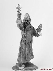 Tin soldier The regimental priest of RIA figure 1915 54 mm