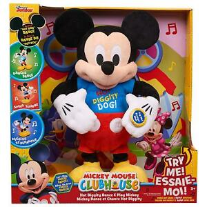 NEW-Disney-Mickey-Mouse-Clubhouse-Hot-Diggity-Dance-Play-Plush-Mickey