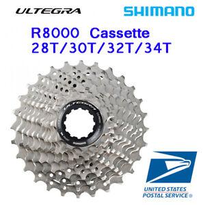 Shimano-Ultegra-CS-R8000-Cassette-11-28T-30T-32T-34T-11-Speed-Sliver