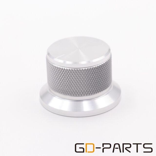 2PCS 38*25mm Silver Solid Aluminum Volume Knob FR Amp Speaker DVD Recorder Radio