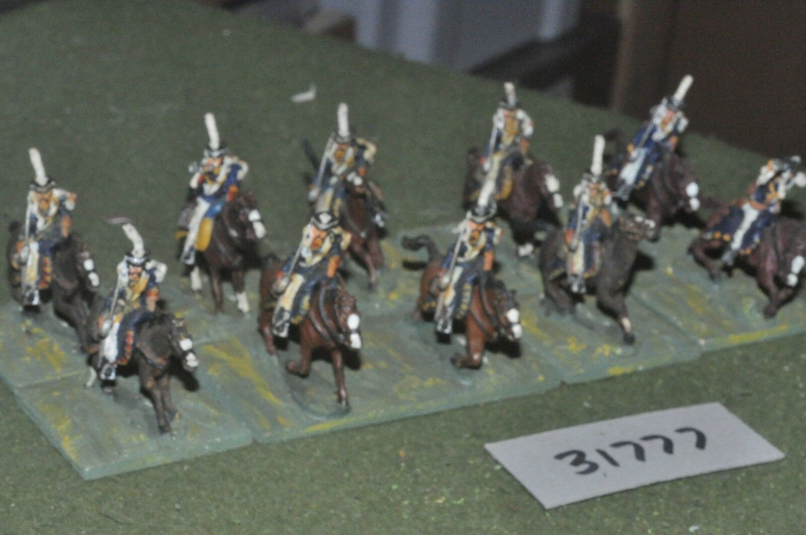 25mm napoleonic   russian - hussars 10 figures - cav (31777)