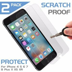 2-x-MANTIS-Temperd-Glass-for-on-iPhone-5-6-7-8-9-X-XR-XS-Plus-Screen-Protector