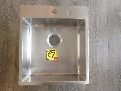 PYRAMIS Clean /& Care Rundbecken Spüle ohne Überlauf Edelstahl poliert Ausschni