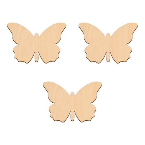 Forma a farfalla Craft BIANCHI 10x6.8cm legno betulla decorazione Abbellimenti TAG