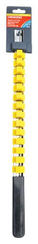 Crescent 17-1//2 L x 1//2 SAE with 14 Clips Socket Rail Chrome Vanadium Steel