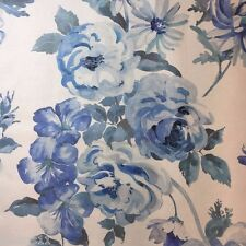 COWTAN AND TOUT JANE CHURCHILL SHABBY ROSE FLORAL PRINT MAYFLOWER/BLUE 11.25 YDS