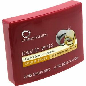 Connoisseurs-Jewelry-and-Gold-Clean-and-Polish-25-Disposable-Dry-Wipes
