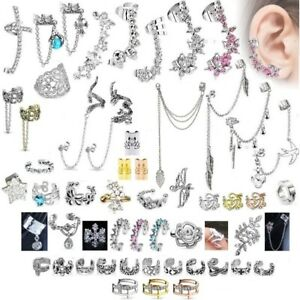 Cuff Earring - Cartilage Helix Top Upper Ear Ring - Bar ...