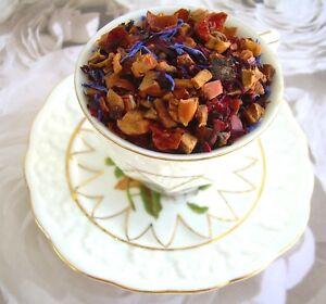 Blue-Eyes-Tisane-Loose-Herbal-Tea-4oz-120g-Apple-Orange-Hibiscus-Rose-Hips