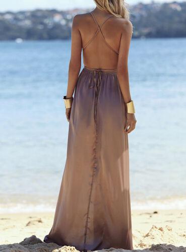 Woman Satin Maxi Dress 110292 Vestito Donna Abito Lungo Effetto Raso