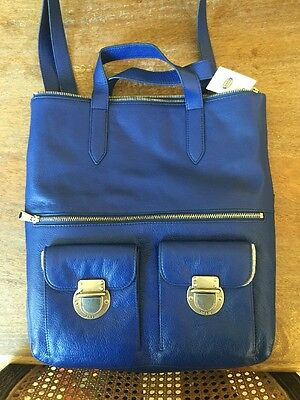 NEW Fossil Riley Sapphire Blue Crossbody Tote Handbag Purse ZB6547439 $248 +