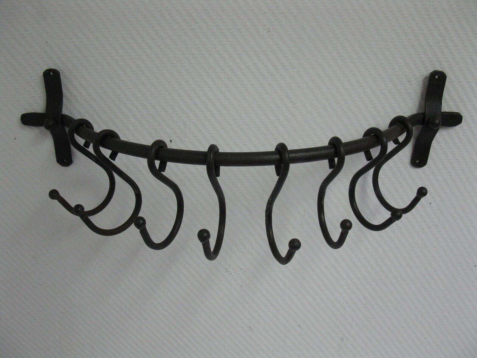 Wandgarderobe Wandgarderobe Wandgarderobe Handtuchhalter Metall Landhausstil  63 cm handgeschmiedet Loft 139698