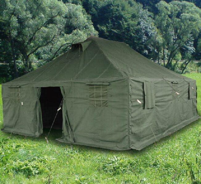 Mannschaftszelt US Bundeswehr NATO BW oliv Grün Grün Grün 6 x 5 Meter Zelt Armee Tent d50bca