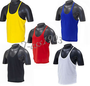 Plain Stringer Gym Vest S-XL Racerback Tank Top ...