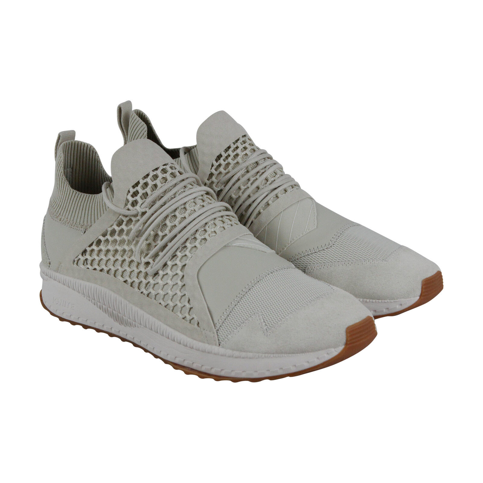 Puma Tsugi netfit han  Hombre Gray Suede   han mesh athletic training zapatos 16e525