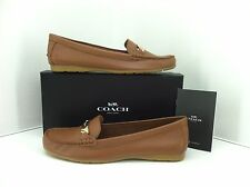 """Coach Saddle """"Olive' Pebble Grain Leather Loafer. Size 11 M Style A7751"""