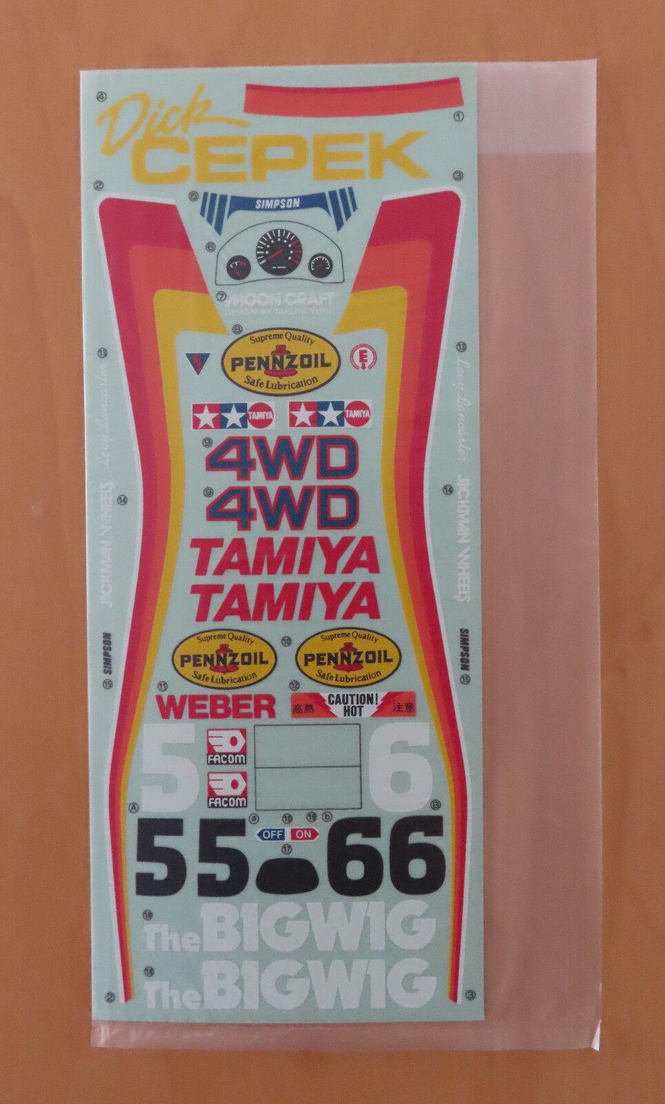 RC Tamiya Decal The BigWig 58057 NEU NIB 1986