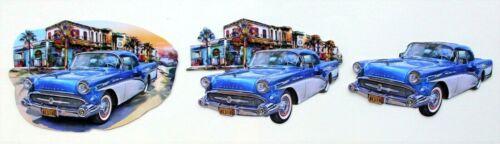 3D Easy Die Cut Card Toppers Classic Cars 5 Designs Convertible Kombi VanType 2
