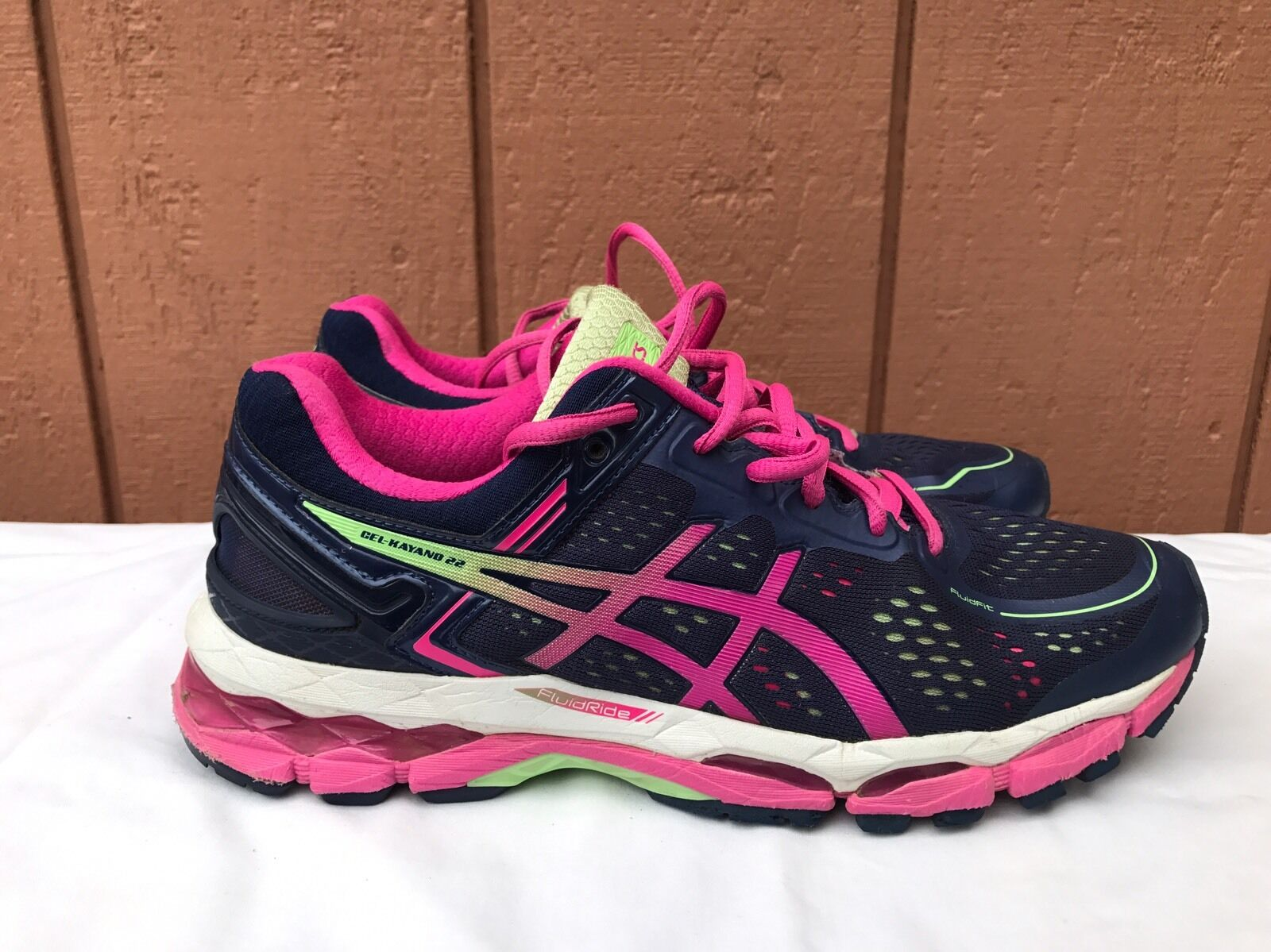 EUCAsics donna Kayano 22 Athletic Running scarpe T597N Indigo blu blu blu rosa US 9.5 c9c886