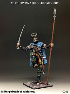 Northern invaders. Odin, Tin toy soldier 54 mm, figurine, sculpture HAND PAINTED