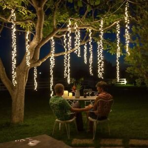 Details About Led String Lights Christmas Garland Fairy Lights Outdoor Wedding Party Curtain