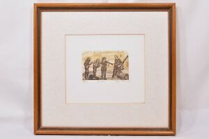 Glynn Thomas  'Buskers' Framed Limited Edition Art Print